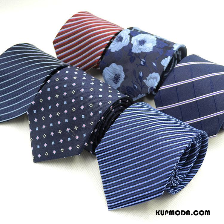 Krawat Męskie Biznes Jedwab Męska Sukienka Niebieski