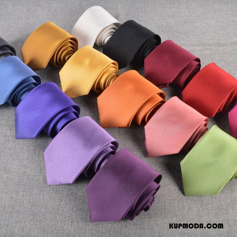 Krawat Męskie Biznes Męska Jedwab Sukienka 5 Cm Kolor