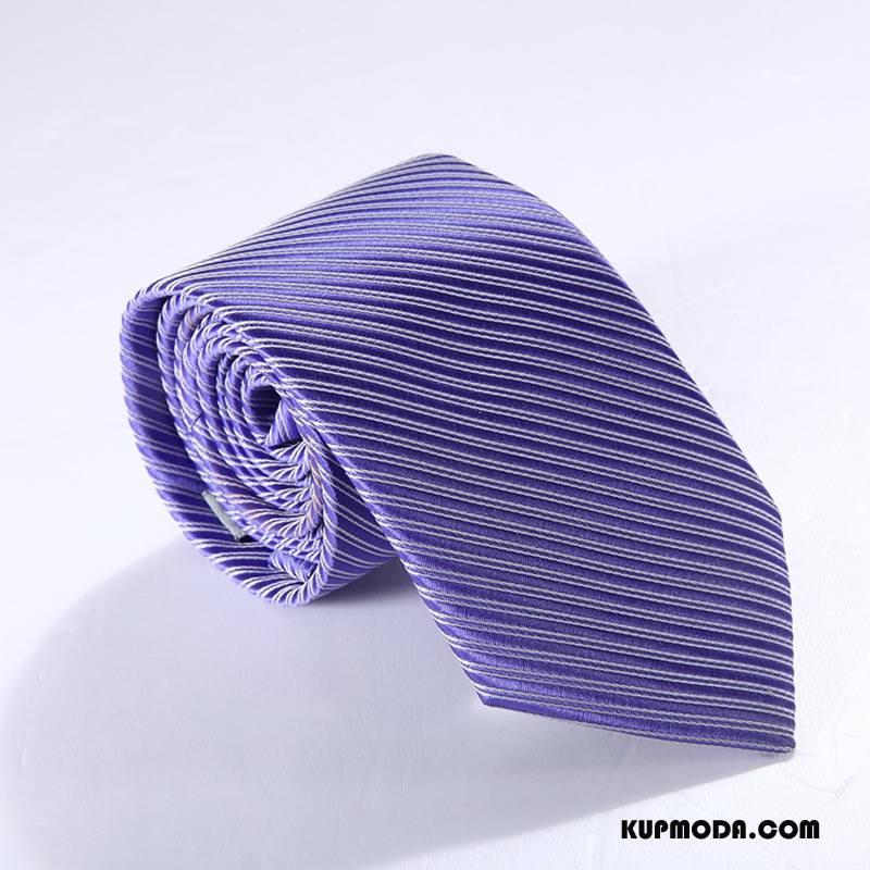Krawat Męskie Biznes Męska Student 7 Cm Sukienka Z Pracy Niebieski