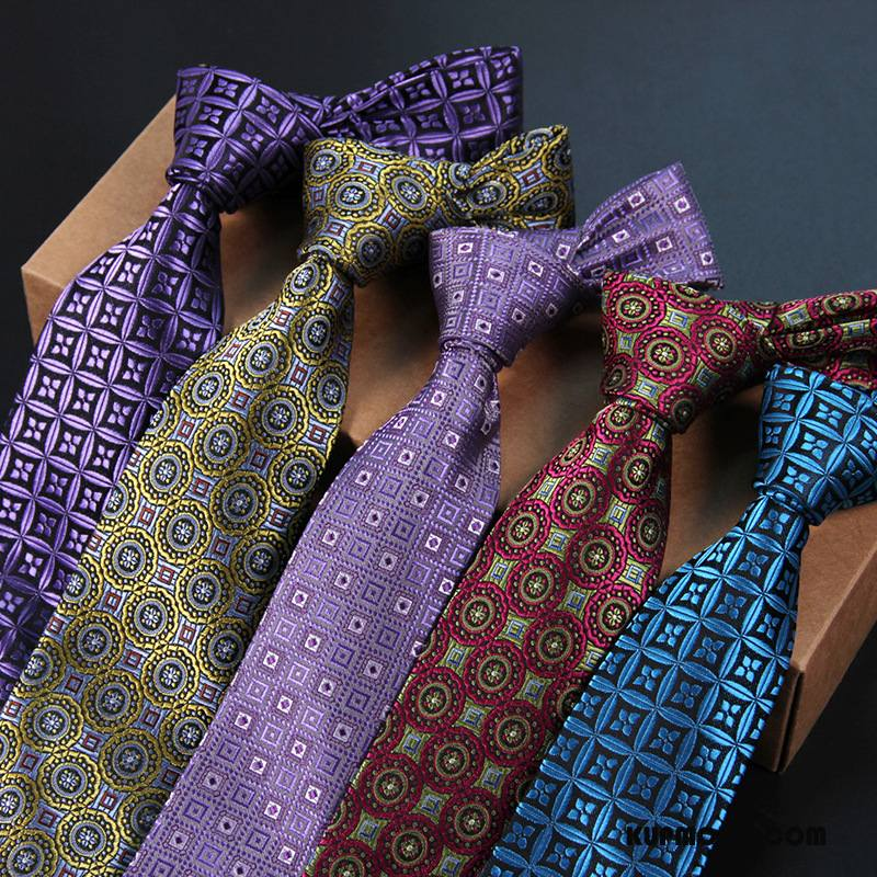 Krawat Męskie Brytyjski Męska Biznes Sukienka Wszystko Pasuje Kwiaty Niebieski