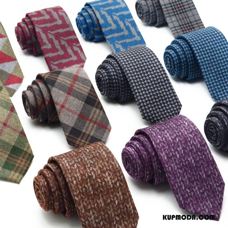 Krawat Męskie Casual Wysoka Jakość Młody Wiosna Nowy Zima Brązowy