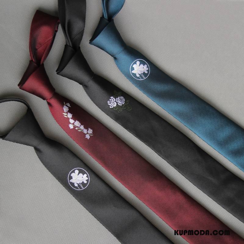 Krawat Męskie Moda Casual Ślubna Pan Młody Osobowość Biznes Czarny