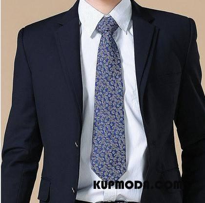 Krawat Męskie Nowy Akcesoria Biznes Średni Męska Mundury Niebieski