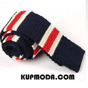 Krawat Męskie Nowy Dzianina Popularny Wąskie Moda Męska Ciemno Niebieski