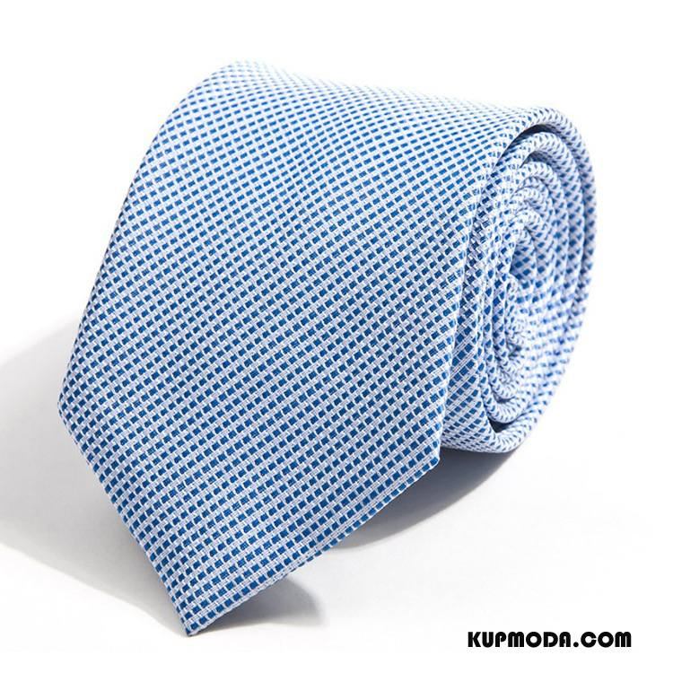Krawat Męskie Nowy Męska Z Pracy Biznes Casual Wysoki Koniec Niebieski