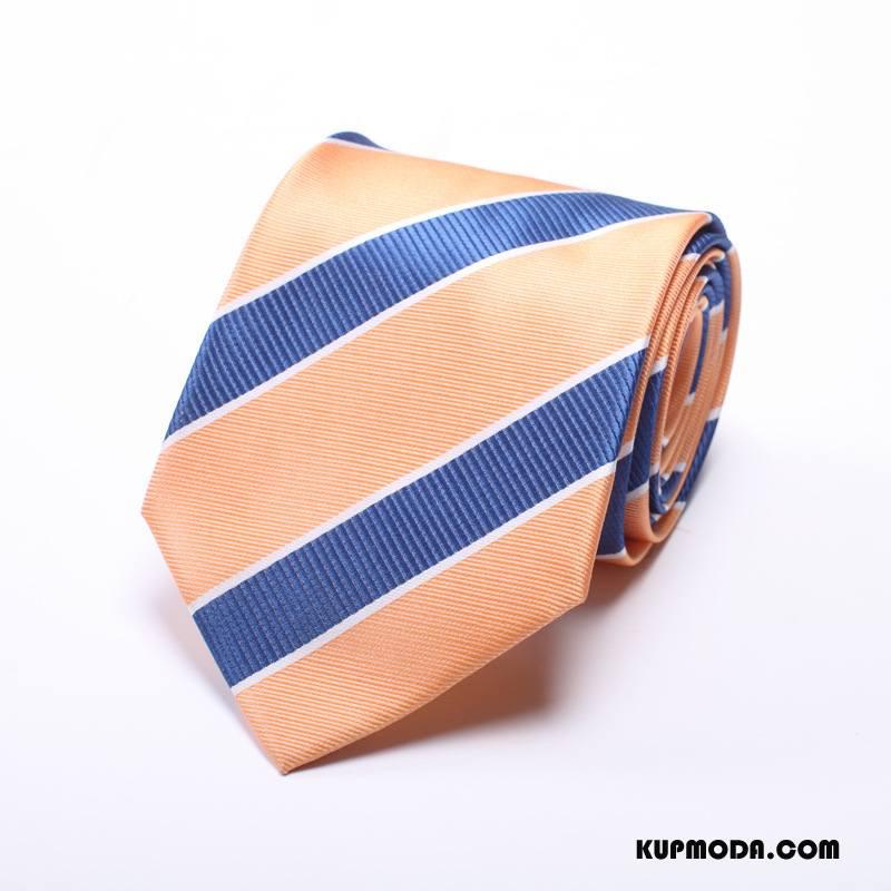 Krawat Męskie Sukienka Biznes Jedwab Z Pracy 5 Cm Męska Brązowy
