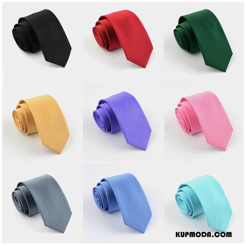 Krawat Męskie Wąskie Męska Moda Dobrze 6 Cm Z Pracy Kolor