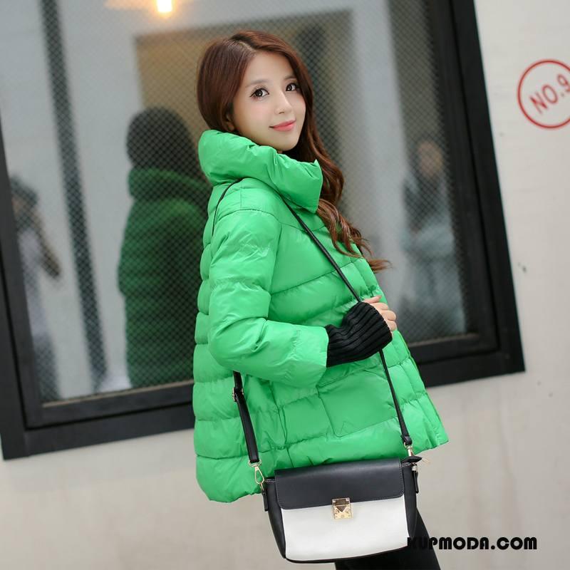 a1866c733652a1 Kurtka Bawełniana Damskie Długi Rękaw Ubrania Bawełniane Jednorzędowy Zima  2018 Krótki Czysta Zielony Tanie