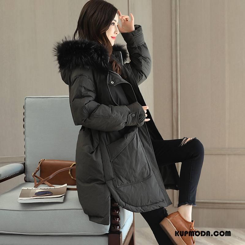 czarne eleganckie puchowe kurtki damskie