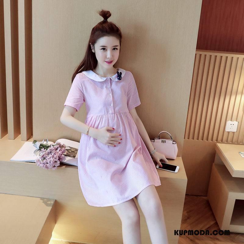Odzież Ciążowa Damskie Lato Szerokie Proste Moda 2018 Eleganckie Czysta Różowy