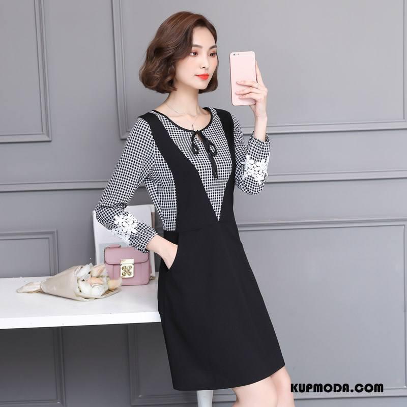 Odzież Duże Rozmiary Damskie Tendencja 2018 Slim Fit Eleganckie Duży Rozmiar Moda Czysta Czarny
