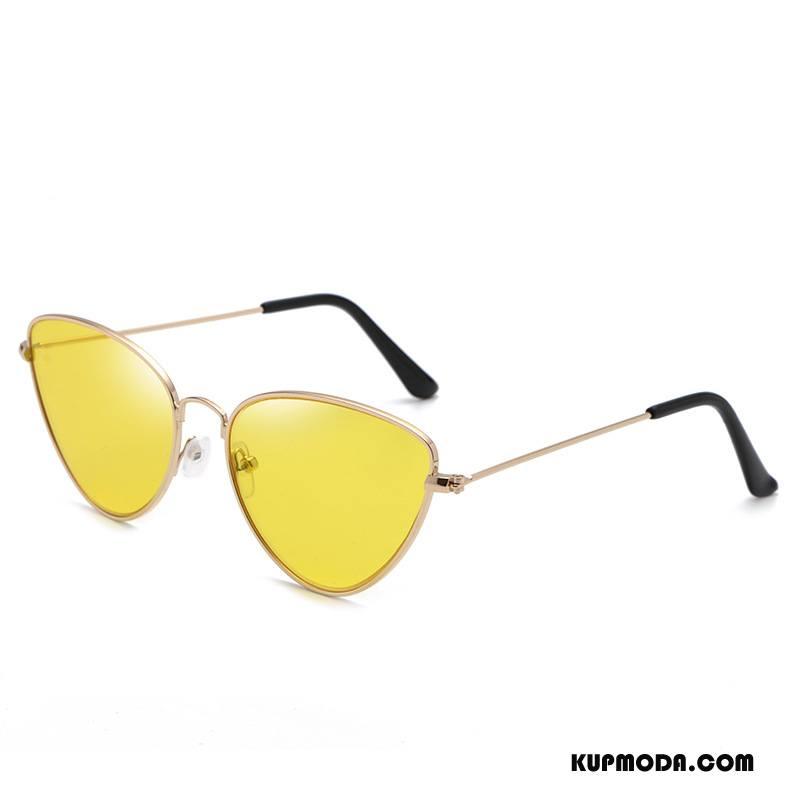 Okulary Przeciwsłoneczne Damskie Damska Moda 2018 Nowy Złoty Żółty