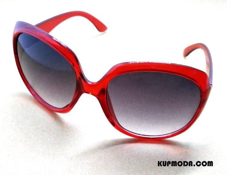 Okulary Przeciwsłoneczne Damskie Damska Popularny Eleganckie Wielki Ropucha Vintage Czerwony