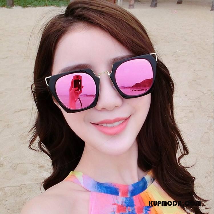 Okulary Przeciwsłoneczne Damskie Siatkowe Wielki Kwadratowy Damska 2018 Nowy Proszek Czerwony