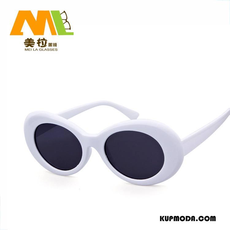Okulary Przeciwsłoneczne Damskie Vintage Okrągła Siatkowe Damska Męska Biały Czerwony