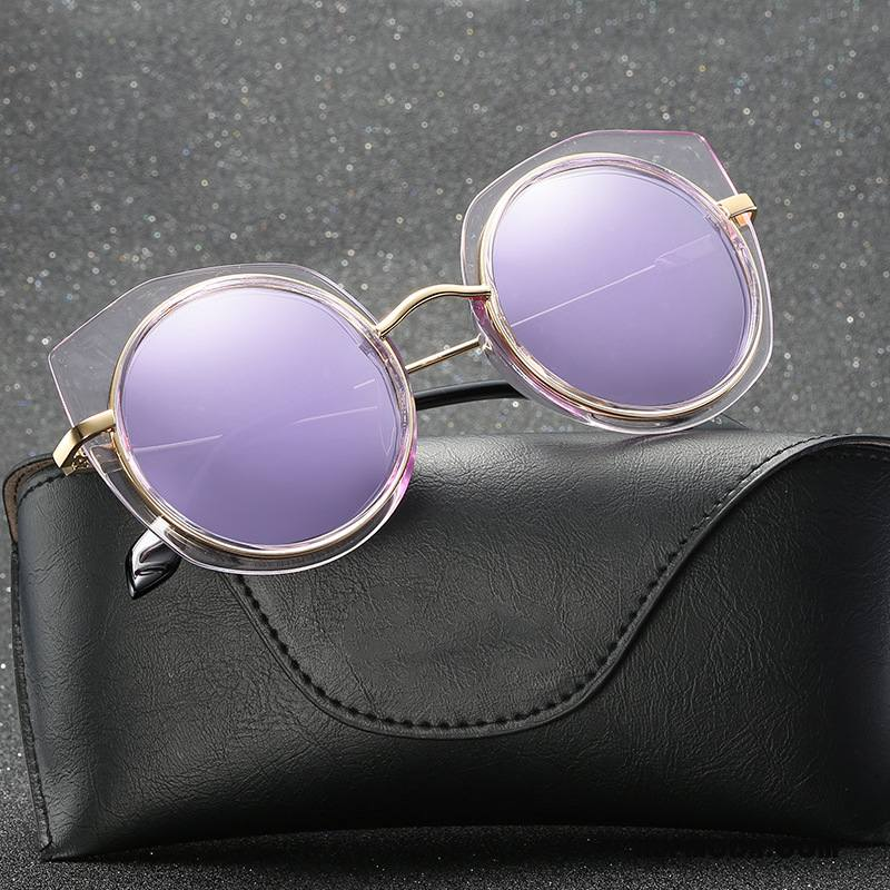 Okulary Przeciwsłoneczne Damskie Wszystko Pasuje Kolorowe Trendy Moda Nowy Damska Fioletowy