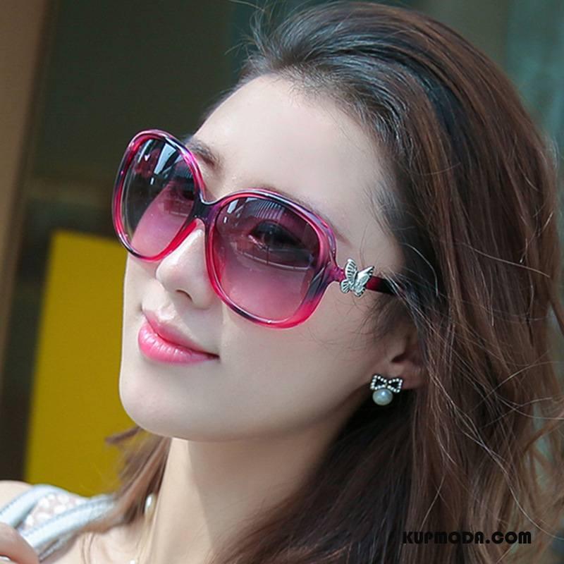 Okulary Przeciwsłoneczne Damskie Wszystko Pasuje Wielki Damska Trendy Outdoor Fioletowy Czerwony