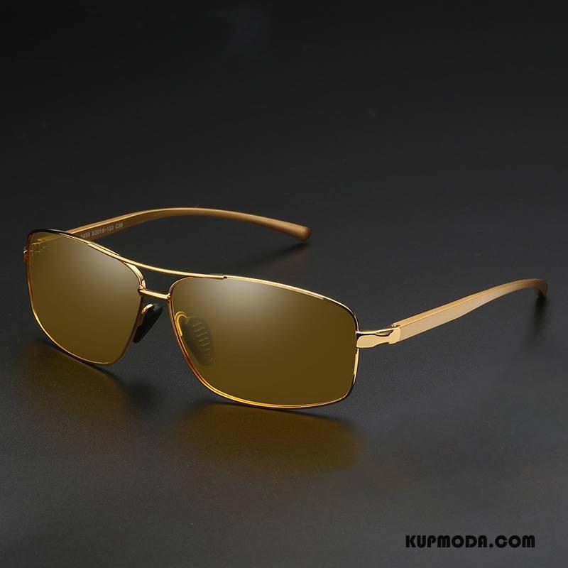 Okulary Przeciwsłoneczne Męskie Dla Kierowców Męska Polaryzator Złoty
