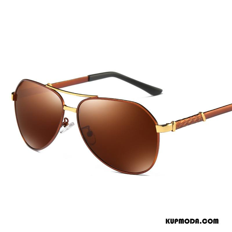 Okulary Przeciwsłoneczne Męskie Nowy Dla Kierowców Klasyczny Ropucha Męska Polaryzator Brązowy