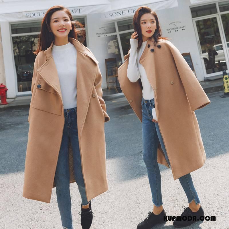 Płaszcze Damskie Casual Czyste Słodkie Zima Tendencja Moda