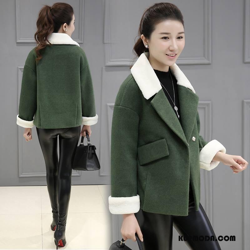 Płaszcze Damskie Tendencja Garnitury Eleganckie Zima 2018 Moda Czysta Zielony