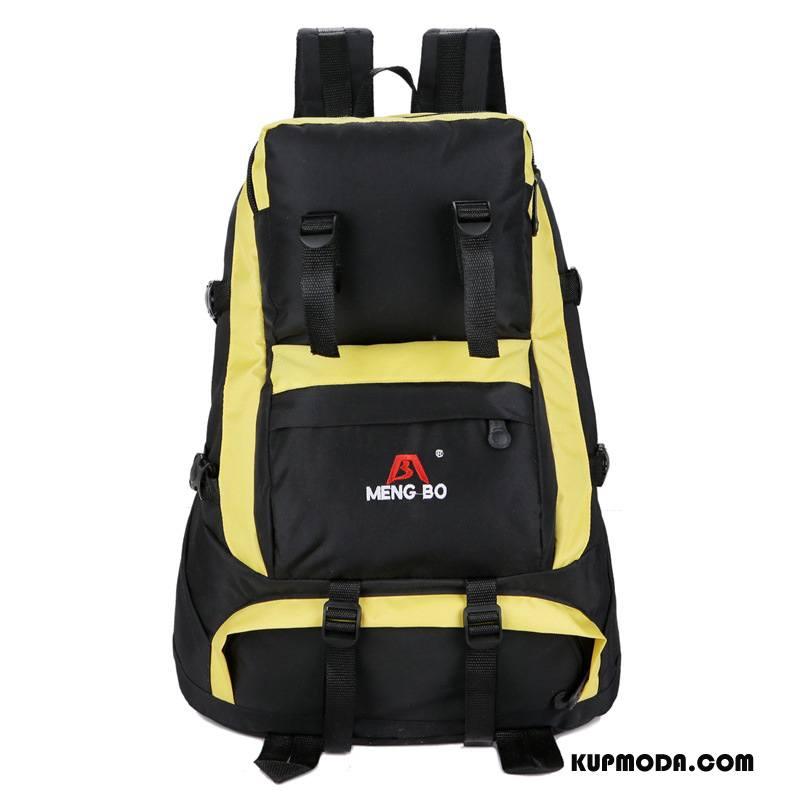 Plecak Podróżny Damskie Casual Outdoor Sportowe Męska Damska Duża Pojemność Żółty