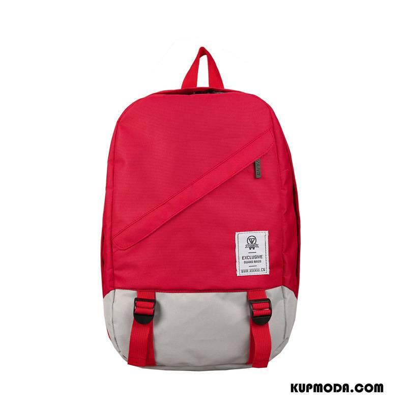 Plecak Podróżny Damskie Liceum Nowy Damska Student Duża Pojemność Trendy Czerwony