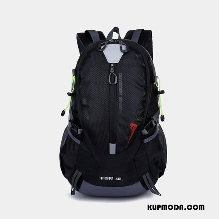 Plecak Podróżny Damskie Męska Sportowe Torba Turystyczna Wodoodporny Do Chodzenia Lekkie Czarny