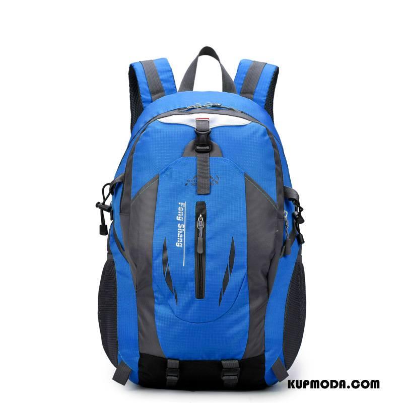 Plecak Podróżny Damskie Sportowe Casual Męska Jazdy Siatkowe Damska Niebieski