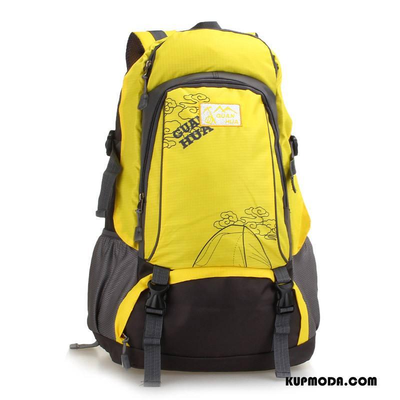 Plecak Podróżny Męskie Casual Duża Pojemność Moda Outdoor Torba Turystyczna Męska Żółty