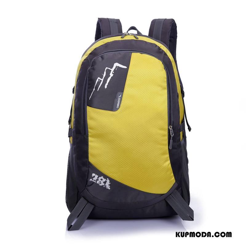 Plecak Podróżny Męskie Casual Student Outdoor Wielki Męska Torba Turystyczna Żółty