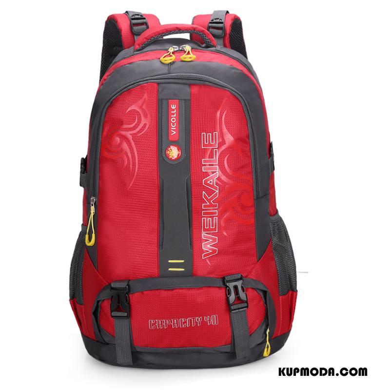 Plecak Podróżny Męskie Nowy Damska Wodoodporny Torba Turystyczna Torba Sportowa Casual Czerwony