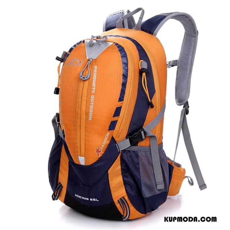 Plecak Podróżny Męskie Outdoor Jazdy Sportowe Casual Torba Turystyczna Duża Pojemność Oranż