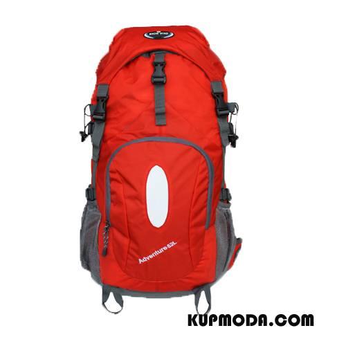 Plecak Podróżny Męskie Siatkowe Oddychające Wodoodporny Outdoor Do Chodzenia Torba Turystyczna Czerwony