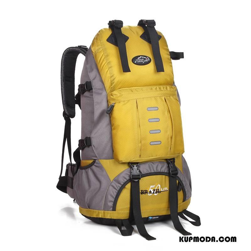 Plecak Podróżny Męskie Torba Turystyczna Do Chodzenia Outdoor Damska Męska Casual Żółty