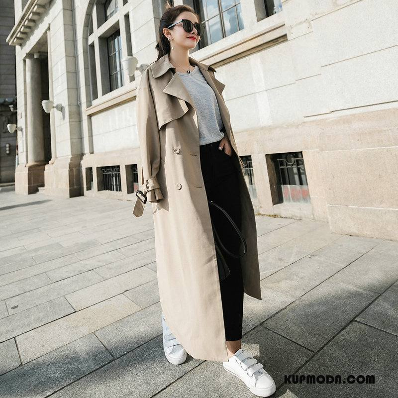 Prochowiec Damskie Wiosna Eleganckie Slim Fit Wygodne Popularny Moda Khaki
