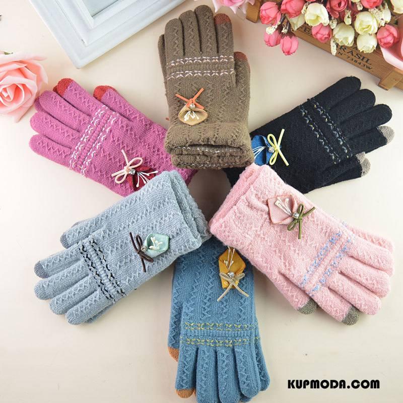 Rękawiczki Damskie Ciepły Outdoor Student Kaszmir Damska Ekran Dotykowy Szary