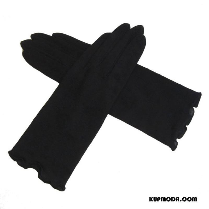 Rękawiczki Damskie Damska Ochrona Przed Słońcem Oddychające Szybkie Suszenie Kwiaty Chłonny Czarny