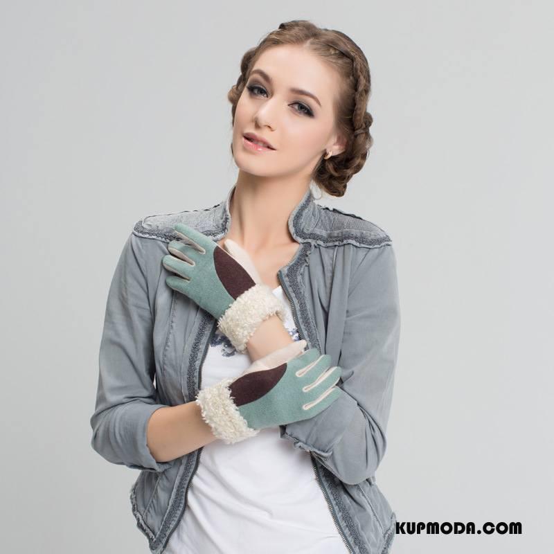 Rękawiczki Damskie Mieszany Jesień Zima Szycie Utrzymuj Ciepło Wełna Biały