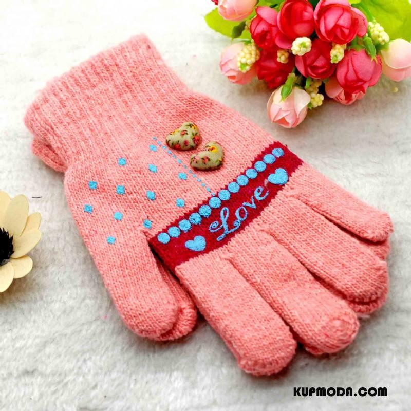 Rękawiczki Damskie Zima Nowy Damska Utrzymuj Ciepło Dla Grubych Miłość Proszek