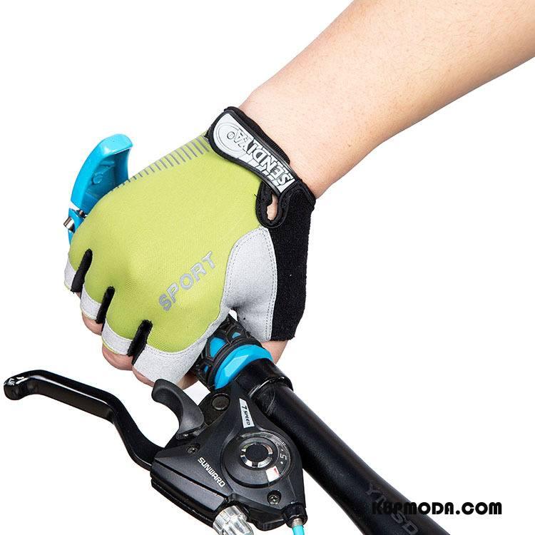 Rękawiczki Męskie Antypoślizgowe Nowy Męska Pół Palca Outdoor Lato Jasny Zielony