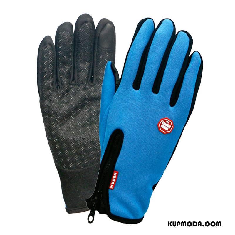 Rękawiczki Męskie Damska Ekran Dotykowy Utrzymuj Ciepło Narciarstwo Outdoor Zima Lazurowy