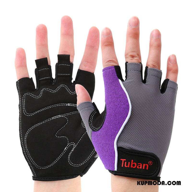 Rękawiczki Męskie Damska Sportowe Wristguards Instrumenty Jazdy Fitness Fioletowy