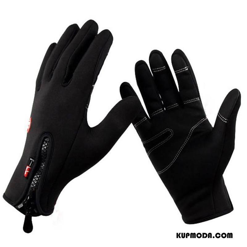 Rękawiczki Męskie Jazdy Outdoor Ekran Dotykowy Zima Utrzymuj Ciepło Męska Czarny
