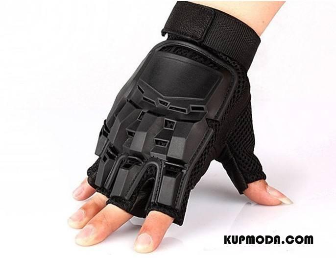 Rękawiczki Męskie Skóra Walka Ochrona Sportowe Jazdy Męska Złoty Czarny
