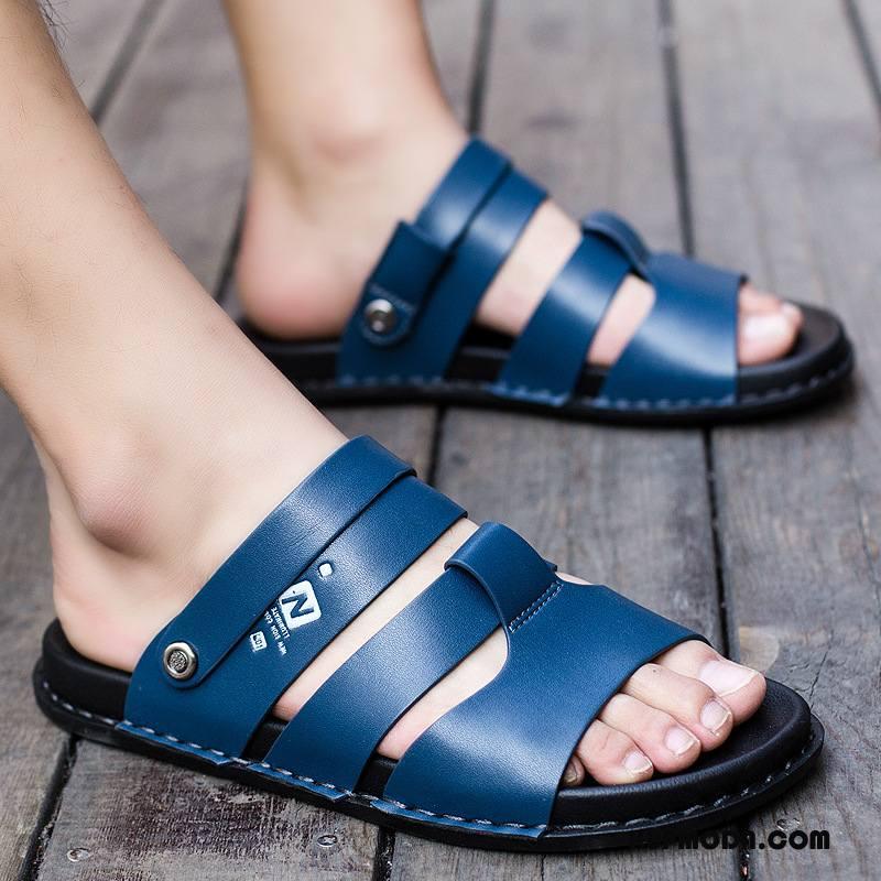 Sandały Męskie Wodoodporny Biznes Moda Antypoślizgowe Męska Casual Niebieski