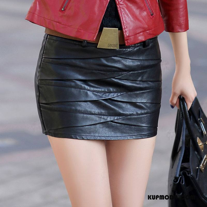 Spódnica Damskie Krótkie Spódnice Proste Tendencja Seksowna Jesień Moda Czarny
