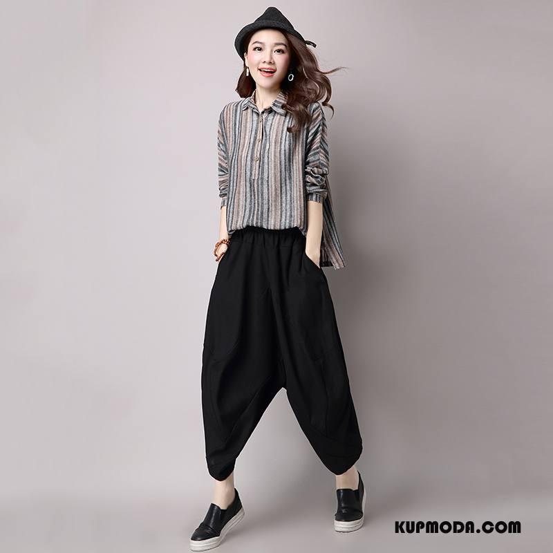 d73ad23e Spodnie Damskie Moda Casualowe Spodnie Szerokie Proste Jesień Eleganckie  Czysta Czarny