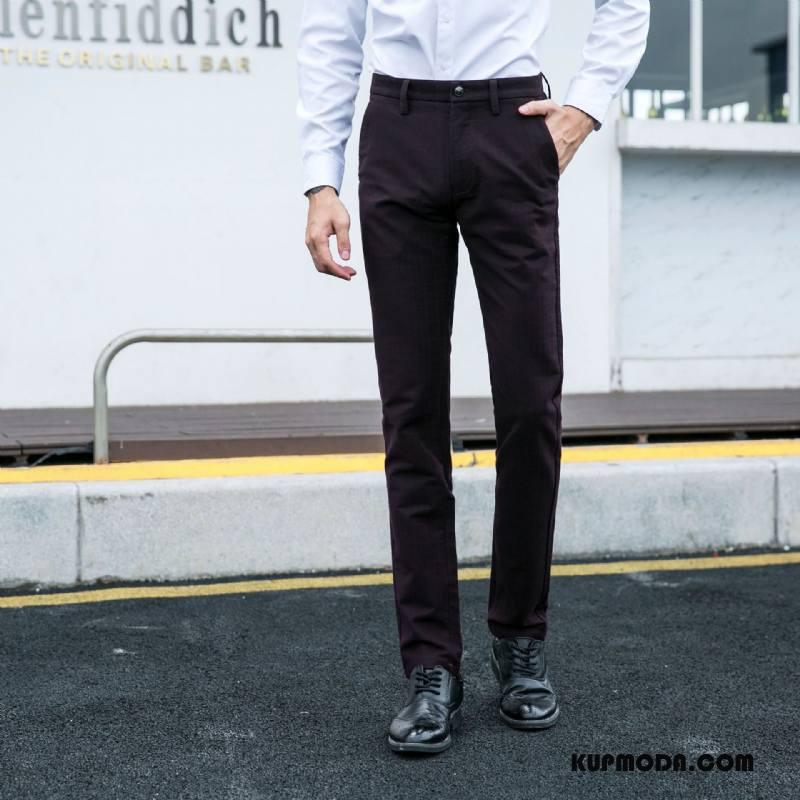 Spodnie Garniturowe Męskie Jesień Tendencja Męska Mały Casual Moda Czarny