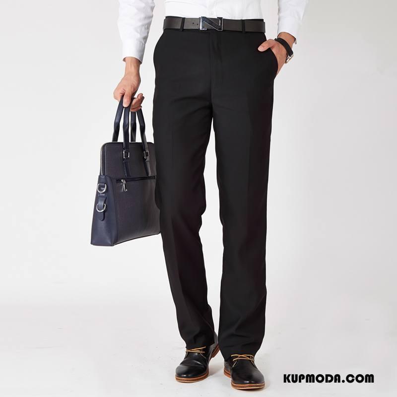 Spodnie Garniturowe Męskie Sukienka Czarny